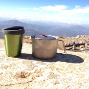 Testing our stove, Cuyamaca Peak