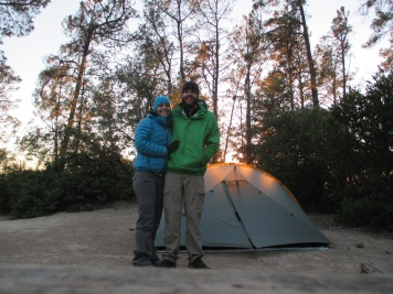 Us with our tent